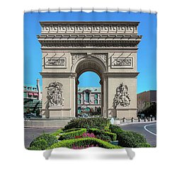Arc De Triomphe Paris Casino Las Vegas Shower Curtain