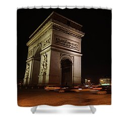 Arc Du Triomphe Paris Shower Curtain by Erik Tanghe