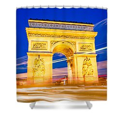 Shower Curtain featuring the photograph Arc Exposure by Kim Wilson