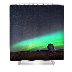 Shower Curtain featuring the photograph Arc Of The Aurora by Dan Jurak