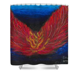 Shower Curtain featuring the painting Arch Angel Gabrielle  by Ania M Milo