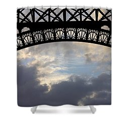 Shower Curtain featuring the photograph Arch At The Eiffel Tower by Heidi Hermes