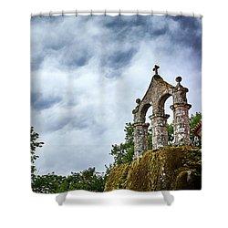 Shower Curtain featuring the photograph Arch At The Monastery Of San Pedro De Rocas by Eduardo Jose Accorinti