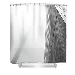Arch In Fog Shower Curtain by Jae Mishra