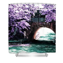 Arch Of Light Shower Curtain by Dennis Baswell