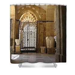 Arch Of Public Library Brindisi Italy Shower Curtain