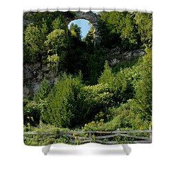 Shower Curtain featuring the photograph Arch Rock Mackinac Island by LeeAnn McLaneGoetz McLaneGoetzStudioLLCcom
