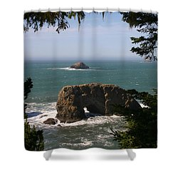 Arch Rock View Shower Curtain