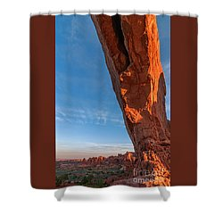 Arch View Shower Curtain by Sharon Seaward