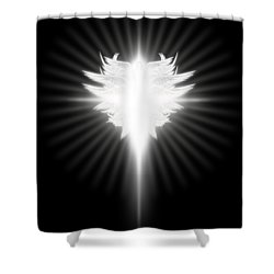 Archangel Cross Shower Curtain