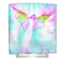 Archangel Gabriel In Flight Shower Curtain