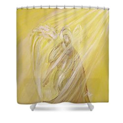 Archangel Uriel - Light Of God Shower Curtain