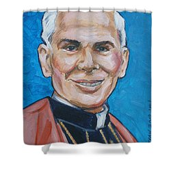 Archbishop Fulton J. Sheen Shower Curtain by Bryan Bustard