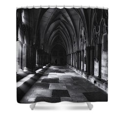 Shower Curtain featuring the photograph Arched Corridor by Andrew Soundarajan