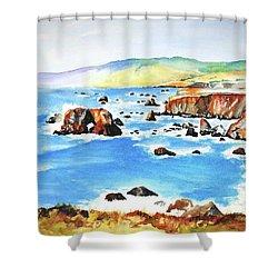 Arched Rock Sonoma Coast California Shower Curtain