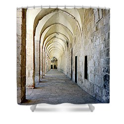 Arched Walkwayat A Church In Florence Italy Shower Curtain