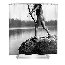 Archery: Nootka Indian Shower Curtain by Granger
