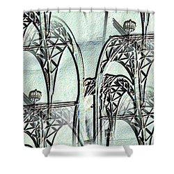 Arches 4 Shower Curtain by Tim Allen