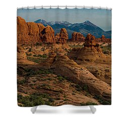 Shower Curtain featuring the photograph Arches National Park by Gary Lengyel