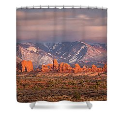 Arches National Park Pano Shower Curtain