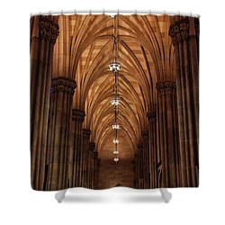 Shower Curtain featuring the photograph Arches Of St. Patrick's Cathedral by Jessica Jenney
