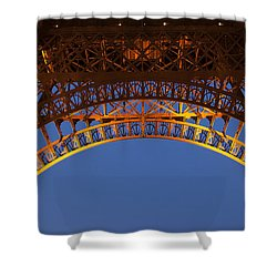 Shower Curtain featuring the photograph Arches Of The Eiffel Tower by Andrew Soundarajan