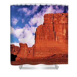 Shower Curtain featuring the photograph Arches Pano by Norman Hall