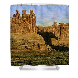 Arches Sunrise Shower Curtain