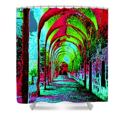 Arches Surreal - Florence Italy Shower Curtain by Merton Allen