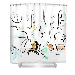 Archimedes Shower Curtain