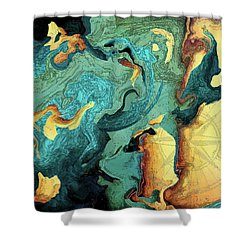 Archipelago Shower Curtain by Deborah Smith