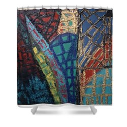 Architectuaral Bent,   Shower Curtain