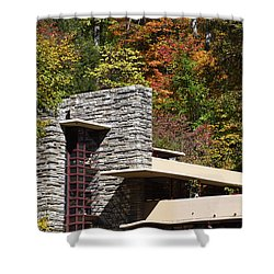 Architectural Detail Of Fallingwater -  Frank Lloyd Wright Shower Curtain