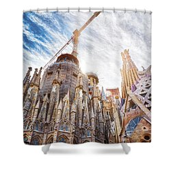 Architectural Details Of The Sagrada Familia In Barcelona Shower Curtain