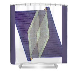 Architecture 20 - Diamonds And Rust Shower Curtain by Lenore Senior