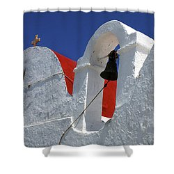 Shower Curtain featuring the photograph Architecture Mykonos Greece by Bob Christopher