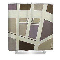 Architecural Designs Shower Curtain by Mini Arora