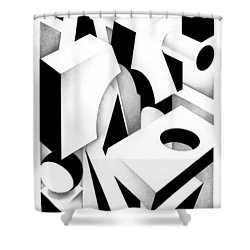 Archtectonic 3 Shower Curtain
