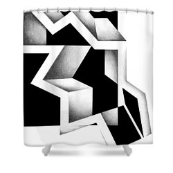 Archtectonic 5 Shower Curtain