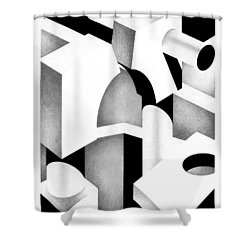 Archtectonic 6 Shower Curtain