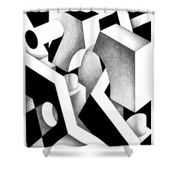 Archtectonic 9 Shower Curtain