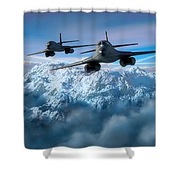 Arctic Blitz Shower Curtain