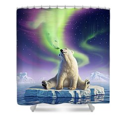 Arctic Kiss Shower Curtain by Jerry LoFaro