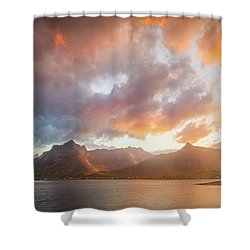 Arctic Susnset Shower Curtain