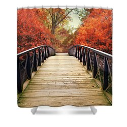 Shower Curtain featuring the photograph Ardent Autumn by Jessica Jenney