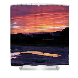 Ardore, Calabria Town Shower Curtain by Bruno Spagnolo
