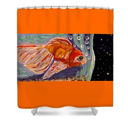 Are We Alone Shower Curtain by Angela Davies