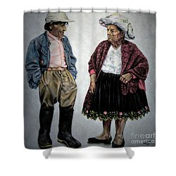 Are You Going To Town Like That? Shower Curtain