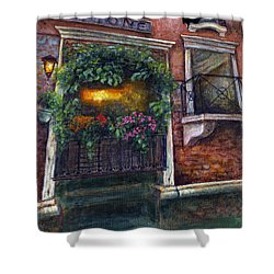 Shower Curtain featuring the painting Are You There My Love? by Retta Stephenson