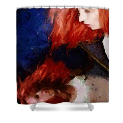 Are You There My Mirror Twin Shower Curtain by Gun Legler